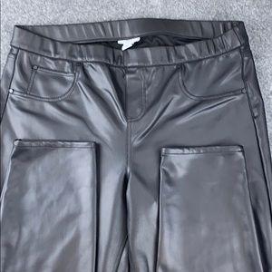 Bar III faux leather leggings XXL